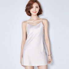 HOT Women's Casual Imitated Silk Satin Slim Fit Camisole Mini Dress Top Blouse