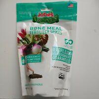 Jobe's Organics Bone Meal Fertilizer Spikes 50 Count Low Odor Organic Plant Food