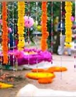 10 PC Indian Red Marigold Flower Garland Artificial Party Garland Wedding Decor