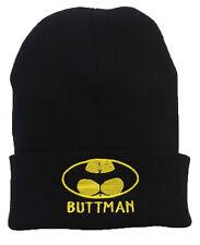 BUTTMAN Funny Spoof Parody Batman Beanie Hat Halloween Party BAT MAN