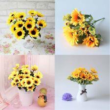 Heads Plant Artificial Sunflower 7 Wedding Decor Home Fake Party Flowers Bouquet