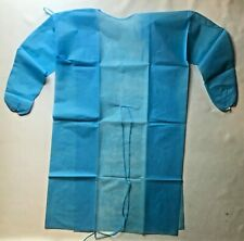Isolation Gown 45 GSM Disposable Blue Medical Dental High Quality PPE 10 Pcs