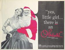 Original Vintage Poster Ohrbachs New York Santa Christmas Department Store 1950s