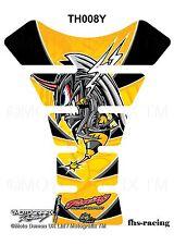 TH008Y , MOTOGRAFIX - Tankpad , Tankprotektor , HONDA , Angry Hornet , gelb