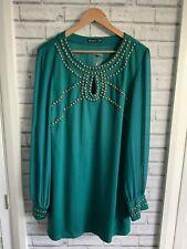 Atmosphere Uk 20/48 Ladies Green Dress- Sheer Sleeves