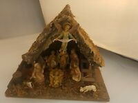 9 Pc. Vintage Fontanini Nativity Set Depose 1983 Italy  Scale, Spider Marks