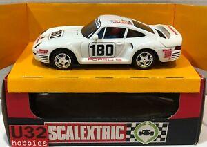 Scalextric exin 4084 Porsche 959 #160 Blanc