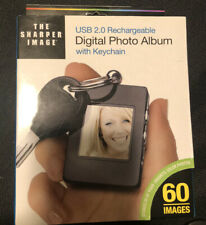 The Sharper Image Digital Photo Album with Keychain USB 2.0 Rechargeable