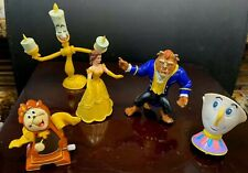 Disney Beauty and the Beast BELLE, BEAST Wind-up CLOCK, CHIP LUMIERE Burger King