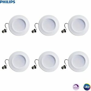 "Philips LED Downlight 5-6"" Retrofit 65W Equivalent 10W Dimmable Daylight"