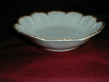 Carlsbad Austrian Porcelain Vegetable Bowl w 22k Beaded Scalloped Shell Rim