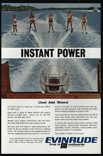 1967 EVINRUDE 100-S Boat Outboard Motor 5 Water Skiers - Ski - Skiing VINTAGE AD