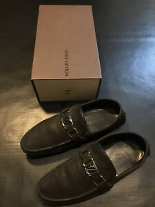 LOUIS VUITTON SUEDE LOAFER DRIVING MOCCASINS LV SHOES SIZE 39.5 US 6.5 AUTHENTIC