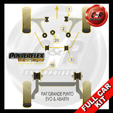 Fiat Punto Evo Abarth (09 on) Powerflex Black Complete Bush Kit