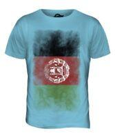 Afghanistan Délavé Drapeau Hommes T-Shirt Haut Afghanestan Football Afghan