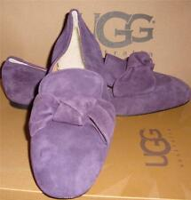 UGG Italian Collection LUNETTA Wine Suede Slip On Flat Shoes Size US 7,EU 38 NEW
