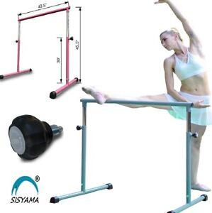 "7-Hole 2""Locking Adjustable Height Ballet Barre Booty Bar Portable Freestanding"