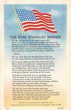 C0255 The Star Spangled Banner 48-Star American Flag - Linen Postcard MWM