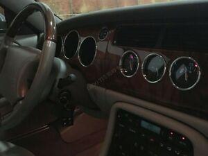 Jaguar XK8 or XKR 1996-2006   Chrome Gauge Trim Dial Rings Polished Alloy  x7