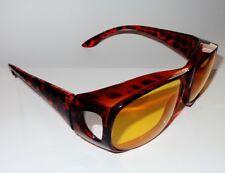 Nachtbrille Überzieh Nachtsichtbrille Nachtfahrbrille auch Brillenträger braun