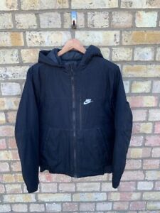 Nike Padded Black Boys Coat Size XL / 13-15 Years Or Mens Small