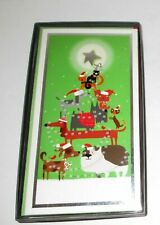"Christmas Boxed Cards Pets Cats Dogs Christmas Tree 8.5"" x 4.5"" 16 pcs"