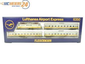 """E160 Fleischmann H0 6350 Zugset 4-tlg. """"Lufthansa Airport Express"""" BR 111 / NEM"""