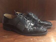 Stacy Adams Mens Black Patent Leather Lace Up Shoes Sz.8