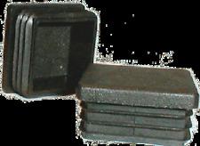 10x Lamellenstopfen für Kantrohr 40x40 mm WS 1,5-2,0 mm Gleiter Verschlußstopfen