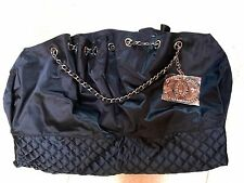 Auth Vintage Chanel nylon tote bag with chain