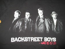"""2010 BACKSTREET BOYS """"This Is US"""" Concert Tour (MED) Shirt BLACK & RED"""