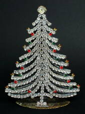 2 in 1 CZECH CHRISTMAS RHINESTONES TREE - DECORATION for your table or window