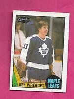 1987-88 OPC # 242 LEAFS KEN WREGGET GOALIE  ROOKIE NRMT  CARD (INV# A8117)