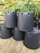 Heavy Duty 15 Litre Plant Pots / Container Pots x5