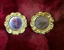 Vintage Gold Ormalu Dollhouse sized mirror PAIR - OLD w glass  Erhard Sohne