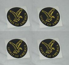"SET OF 4 SPIRIT OF AMERICA WHEEL RIM CENTER CAP STICKER DECAL 1-11/16"" or 43MM"