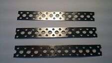 Engineers Stainless Steel Metal Punched Perforated Strip Strap 150x20x0.6  3off