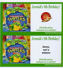 10 Teenage mutant ninja turtles personalized party favors scratch-off game