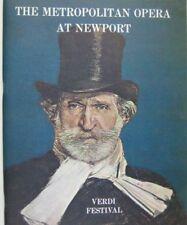 Verdi Festival Show Program Metropolitan Opera Newport 1967 MacBeth Bumbry