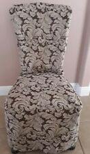 4 CLASSIC FABRIC DINING CHAIR SLIPCOVERS MACHINE WASHABLE
