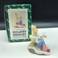 Fitz Floyd Holiday Hamlet Christmas Figurine nib box Dr Quack patient duck bunny