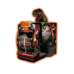 Raw Thrills Jurassic Park Arcade Game Over 30 Dinosaurs