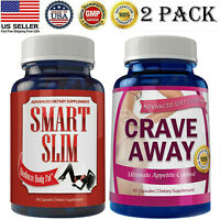Smart Slim Fat Burner Weight Loss Diet Pills Crave Away Appetite Control Caps