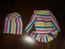 A Genuine Skipper Fashion 2 Pc Top & Skirt- Multi-Color Stripes- Vtg