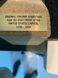 Original Sandstone from United States Capitol Building bookends