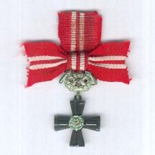 FINLAND. Miniature Order of the Cross of Liberty, Cross of Liberty IV class