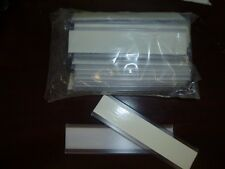 """24 Adhesive Label Holders for Shelving Clear 1"""" x 4"""" ...........2351"""