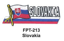 "1-1/2'' X 4-1/2"" SLOVAKIA Flag Embroidered Patch"