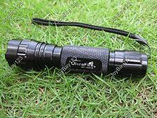 Ultrafire 501B 4W 415 nm Ultraviolet Radiation UV LED Aluminium Flashlight Torch