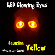 LED GLOWING EYES HALLOWEEN YELLOW 5MM 9V ON/OFF SWITCH